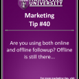 Are you using both online and offline followup? Offline is still there...