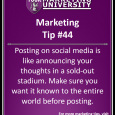 Posting on social media is like announcing your thoughts in a sold-out stadium. Make sure you want it known to the entire world before posting.