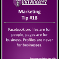 Facebook profiles are for people, pages are for business. Profiles are never for businesses.